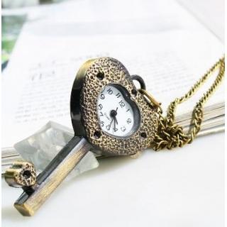 Montre collier clé coeur