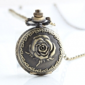 Mini montre gousset bronze rose