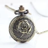 Mini montre gousset bronze rose