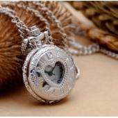 Mini montre gousset argent coeur