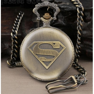 Montre gousset Superman bronze