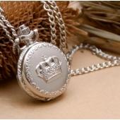 Mini montre gousset argent couronne