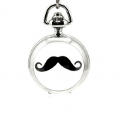 Mini montre gousset moustache