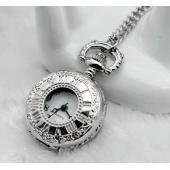 Mini montre clapet chiffres romains argent