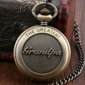 "Montre gousset ""The Greatest DAD"""