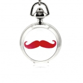 Mini montre gousset moustache violette