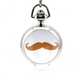 Mini montre gousset moustache rouge