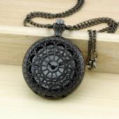 Montre gousset noire métal