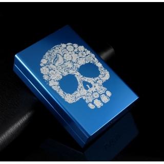Etui à cigarettes FASHION SKULL bleu