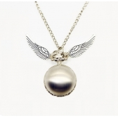 "Montre collier ""Wings ball"" argent"