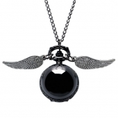 "Montre collier ""Wings ball"" black"