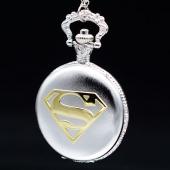 Montre gousset Superman argent