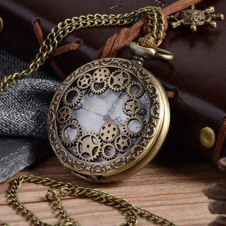 Montre gousset Engrenages bronze