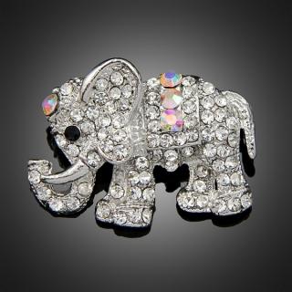 Broche éléphant argentée