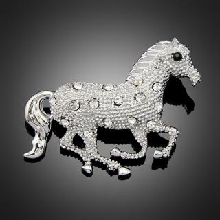 "Broche ""Crazy Horse"" argentée"