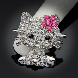 "Broche ""Hello Kitty"" argentée"