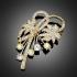 Broche butterflower dorée