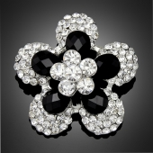 "Broche ""Mooréa"" black"