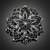 "Broche ""Maupiti"" black"