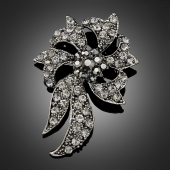 Broche fleur de lune black
