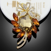 "Broche ""Jupiter"" marron"