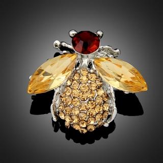 Broche bumblebee marron
