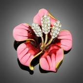 Broche fleur passion rose