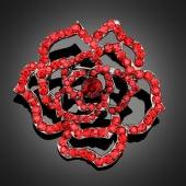 Broche hibiscus rose
