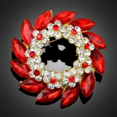 "Broche ""Epione"" rouge"