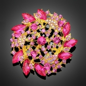"Broche ""Doris"" rose"