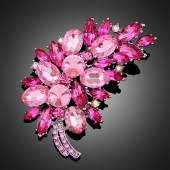 "Broche ""Asclépios"" rose"
