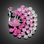"Broche ""Théia"" rose"