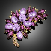 """Broche """"Clio"""" violette"""