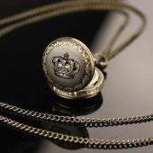 Mini montre clapet bronze couronne