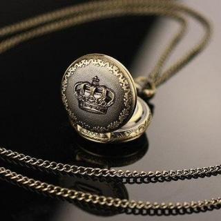 Mini montre gousset bronze couronne
