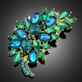 "Broche ""Ouranos"" verte turquoise"