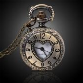 Mini montre gousset bronze coeur