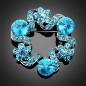"Broche ""Uranus"" turquoise"