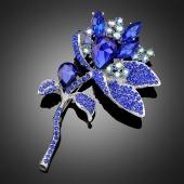 """Broche """"Medritrina"""" bleue"""