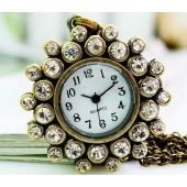 Montre collier sunflower strass