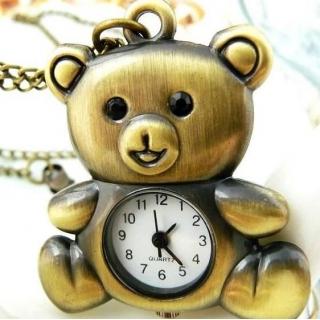 Montre collier teddy bear