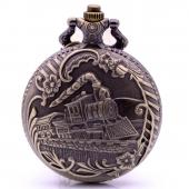 Montre gousset Locomotive bronze