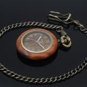 Montre gousset classique bois et bronze