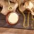 Montre gousset classique bois et or