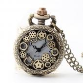 Mini montre gousset bronze pluie d'étoiles