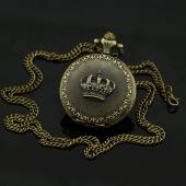 Montre gousset bronze couronne